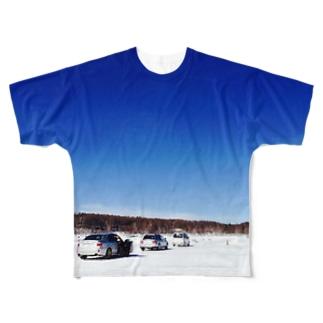 湖での走行会 Full graphic T-shirts