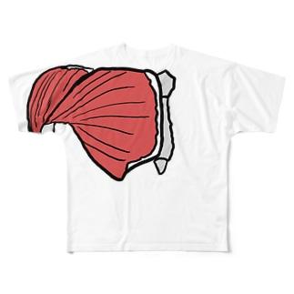 たくましい筋肉 Full graphic T-shirts