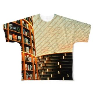 図書館Tシャツ Full graphic T-shirts