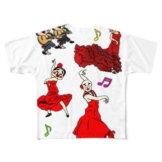 酎納言(フラメンコ大会) Full graphic T-shirts