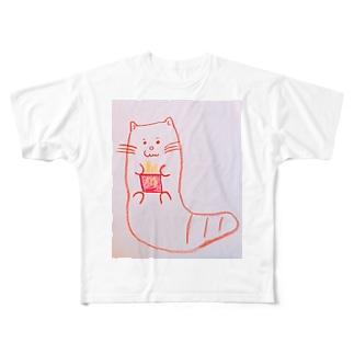 エモいカワウソ Full graphic T-shirts