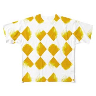 黄ちょきちょき Full graphic T-shirts