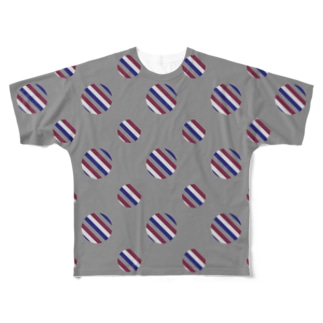Polka Dots(Vintage Tricolor) Full graphic T-shirts