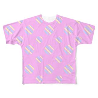 Polka Dots(YumeKawaii Color) フルグラフィックTシャツ