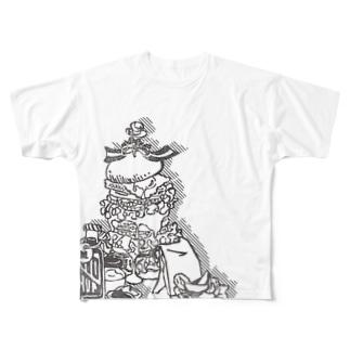 ヒゲバーガー よくばりセット Full graphic T-shirts