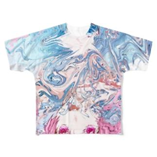 ( ^ω^ )(^○^) Full graphic T-shirts