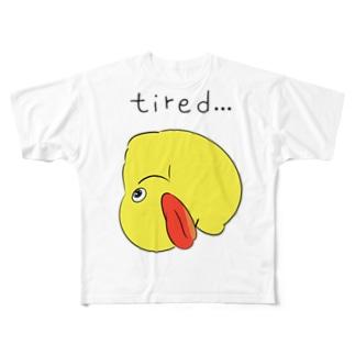 アヒルのおもちゃ Full graphic T-shirts