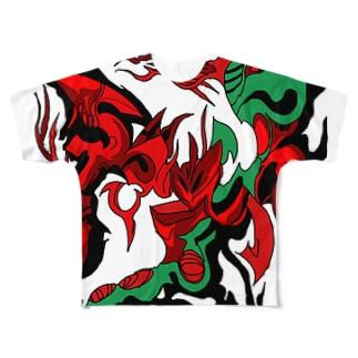 snakegr Full graphic T-shirts