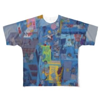 今日は何から描こうかな Full graphic T-shirts