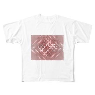 こぎんk01redg Full graphic T-shirts