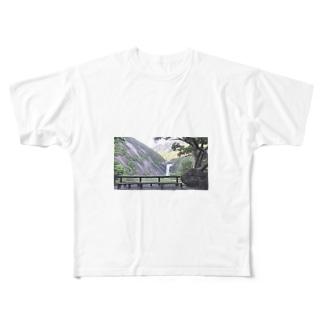 屋久島 千尋の滝 Full graphic T-shirts