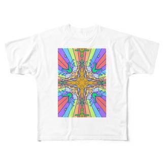 どうぶつがぱんぱかぱかぱーん Full graphic T-shirts