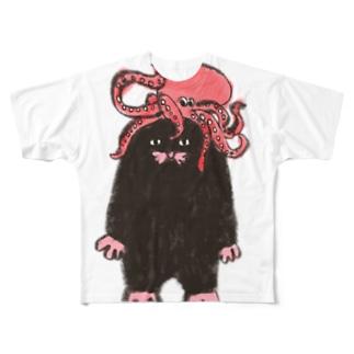 もぐらのおぐらさん たこちゃん Full graphic T-shirts