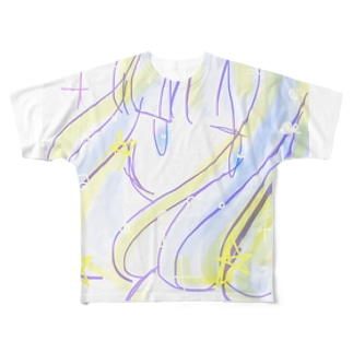 ふりむきがーる Full graphic T-shirts