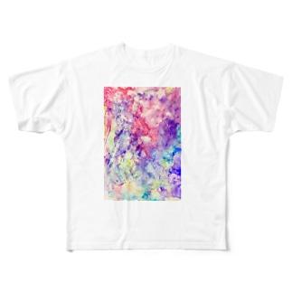 ビスマスモチーフ Full graphic T-shirts