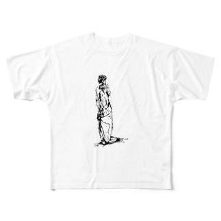 半裸の男性 Full graphic T-shirts