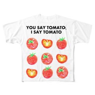 トマトデザイン「埒が明かない」 Full graphic T-shirts