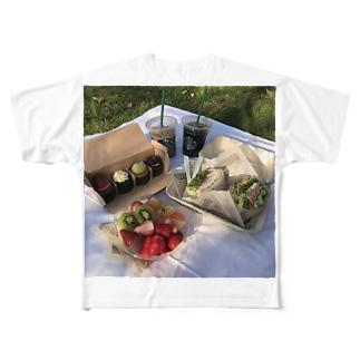 自己満おしゃピク Full graphic T-shirts