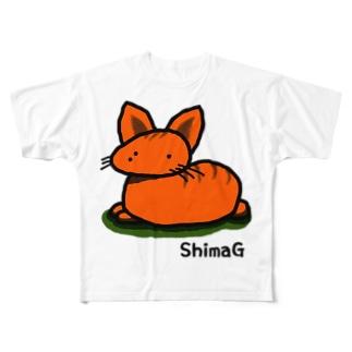 「しまG] Full graphic T-shirts