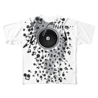 Earphones Full graphic T-shirts