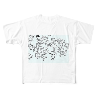 ワニ Full graphic T-shirts