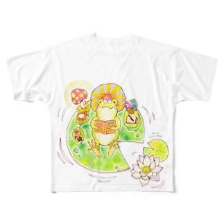 かえるくんのお気に入り Full graphic T-shirts