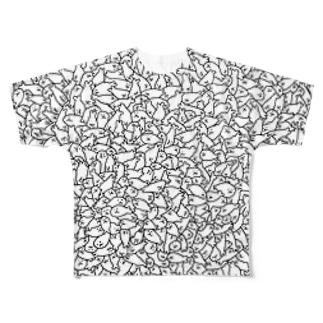 増殖するアザラシ Full graphic T-shirts