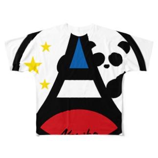 パ紋No.3377 Noriko Full graphic T-shirts