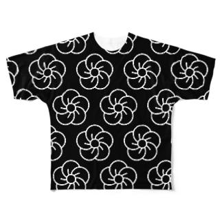 NEJIUME(Black) フルグラフィックTシャツ