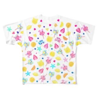 前面のみ fresh summer party! Full graphic T-shirts