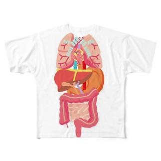 内臓ダゾ! Full graphic T-shirts
