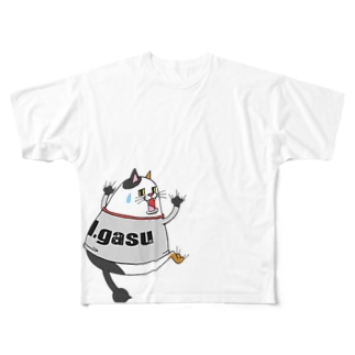 ビクットキャット【アイガス】 Full graphic T-shirts