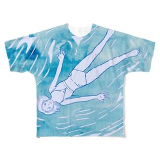 なみにまかせて Full graphic T-shirts