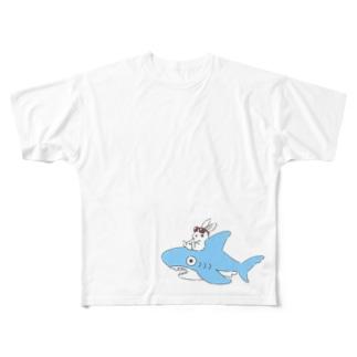 いなばのしろうさぎチャン Full graphic T-shirts