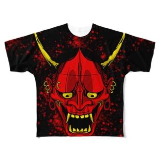般若 Full graphic T-shirts