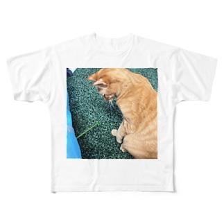 見てるだけ Full graphic T-shirts