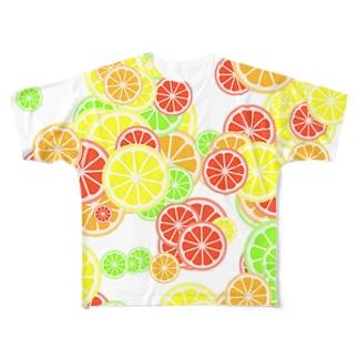 Fruits(White) フルグラフィックTシャツ