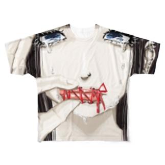 メンヘラっぽい絵 Full graphic T-shirts