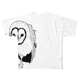 ふっくろー Full graphic T-shirts