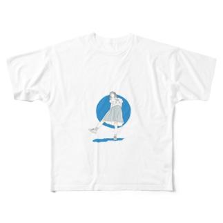 夏の女子高生 Full graphic T-shirts