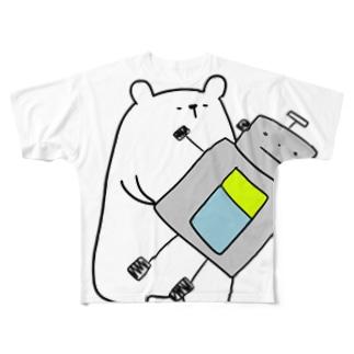 ろぼくま Full graphic T-shirts