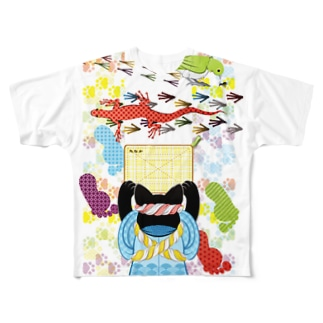雑巾がけと足跡(リメイク) Full graphic T-shirts