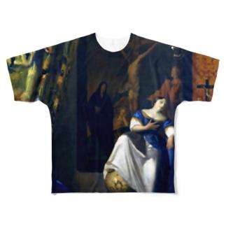 信仰の寓意 / フェルメール (The Allegory of the Faith 1670) Full graphic T-shirts