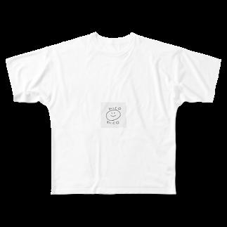 momiji1022のnico  Full graphic T-shirts