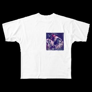 わたしはあかの氷とワインの残り Full graphic T-shirts