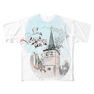 M.MiraのLes voyages. Full graphic T-shirts