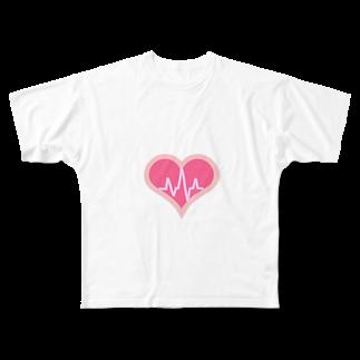 meloaの心電図 Full graphic T-shirts