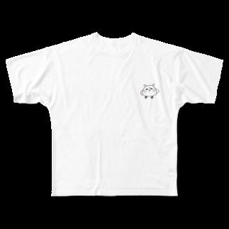 mY9ulhの顔にでやすい!メン鳥 Full graphic T-shirts