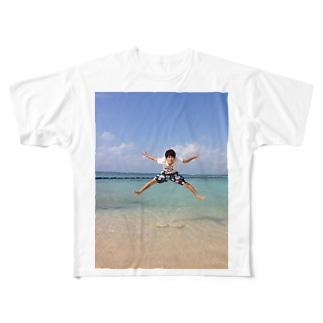 沖縄ジャンプ Full graphic T-shirts