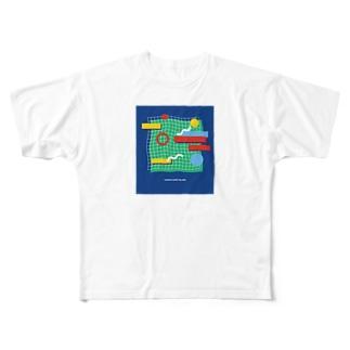 tennis court  Island Full graphic T-shirts